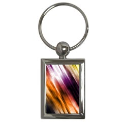Colourful Grunge Stripe Background Key Chains (Rectangle)