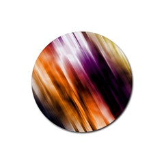 Colourful Grunge Stripe Background Rubber Round Coaster (4 pack)