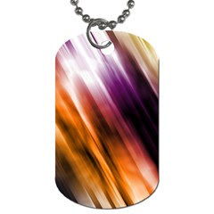 Colourful Grunge Stripe Background Dog Tag (One Side)