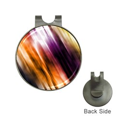 Colourful Grunge Stripe Background Hat Clips With Golf Markers