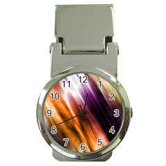 Colourful Grunge Stripe Background Money Clip Watches