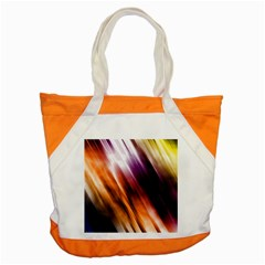Colourful Grunge Stripe Background Accent Tote Bag