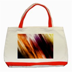 Colourful Grunge Stripe Background Classic Tote Bag (red)