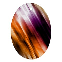 Colourful Grunge Stripe Background Oval Ornament (Two Sides)