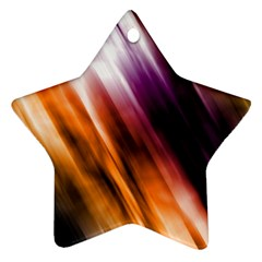 Colourful Grunge Stripe Background Star Ornament (Two Sides)