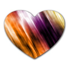 Colourful Grunge Stripe Background Heart Mousepads