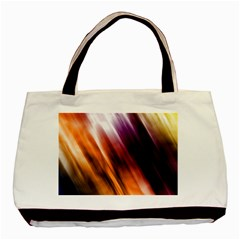 Colourful Grunge Stripe Background Basic Tote Bag (two Sides)
