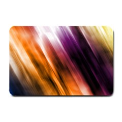 Colourful Grunge Stripe Background Small Doormat