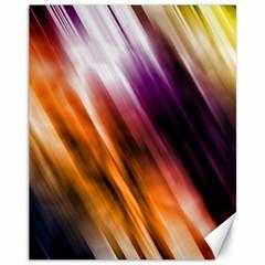 Colourful Grunge Stripe Background Canvas 11  X 14