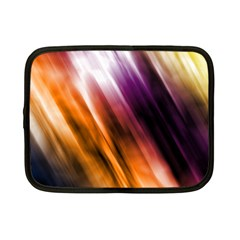Colourful Grunge Stripe Background Netbook Case (Small)