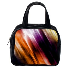 Colourful Grunge Stripe Background Classic Handbags (One Side)
