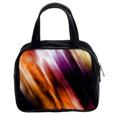 Colourful Grunge Stripe Background Classic Handbags (2 Sides)