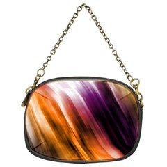 Colourful Grunge Stripe Background Chain Purses (two Sides)