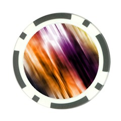 Colourful Grunge Stripe Background Poker Chip Card Guard (10 Pack)