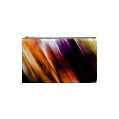 Colourful Grunge Stripe Background Cosmetic Bag (Small)