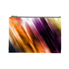 Colourful Grunge Stripe Background Cosmetic Bag (large)