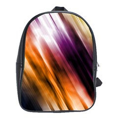 Colourful Grunge Stripe Background School Bags(Large)
