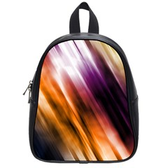 Colourful Grunge Stripe Background School Bags (Small)