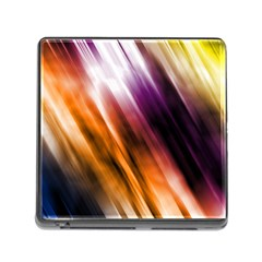 Colourful Grunge Stripe Background Memory Card Reader (Square)