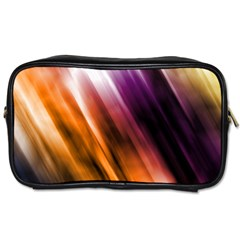 Colourful Grunge Stripe Background Toiletries Bags 2-Side