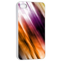 Colourful Grunge Stripe Background Apple iPhone 4/4s Seamless Case (White)