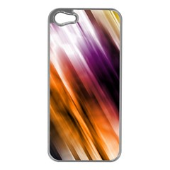 Colourful Grunge Stripe Background Apple iPhone 5 Case (Silver)