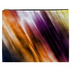 Colourful Grunge Stripe Background Cosmetic Bag (XXXL)
