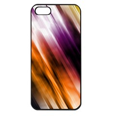 Colourful Grunge Stripe Background Apple iPhone 5 Seamless Case (Black)