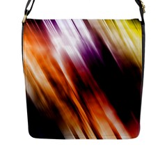 Colourful Grunge Stripe Background Flap Messenger Bag (l)