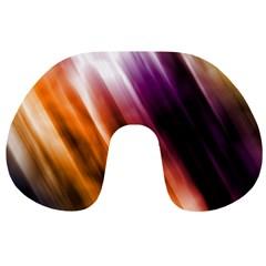 Colourful Grunge Stripe Background Travel Neck Pillows