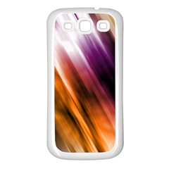 Colourful Grunge Stripe Background Samsung Galaxy S3 Back Case (White)