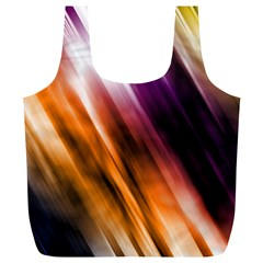 Colourful Grunge Stripe Background Full Print Recycle Bags (L)
