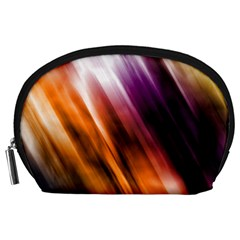 Colourful Grunge Stripe Background Accessory Pouches (Large)