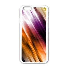 Colourful Grunge Stripe Background Apple Iphone 6/6s White Enamel Case