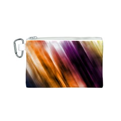 Colourful Grunge Stripe Background Canvas Cosmetic Bag (S)