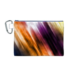Colourful Grunge Stripe Background Canvas Cosmetic Bag (M)