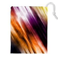 Colourful Grunge Stripe Background Drawstring Pouches (XXL)