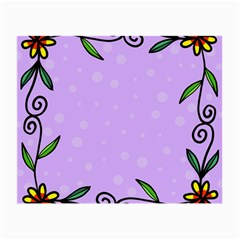 Hand Drawn Doodle Flower Border Small Glasses Cloth