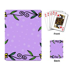 Hand Drawn Doodle Flower Border Playing Card