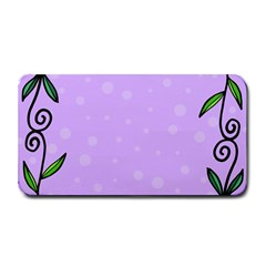 Hand Drawn Doodle Flower Border Medium Bar Mats