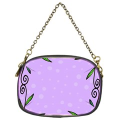 Hand Drawn Doodle Flower Border Chain Purses (one Side)