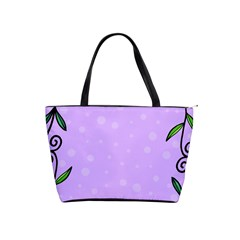 Hand Drawn Doodle Flower Border Shoulder Handbags