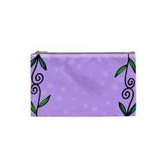 Hand Drawn Doodle Flower Border Cosmetic Bag (small)