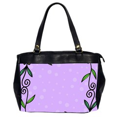 Hand Drawn Doodle Flower Border Office Handbags (2 Sides)