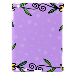 Hand Drawn Doodle Flower Border Apple Ipad 3/4 Hardshell Case (compatible With Smart Cover)