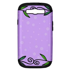 Hand Drawn Doodle Flower Border Samsung Galaxy S III Hardshell Case (PC+Silicone)
