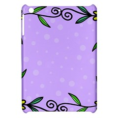 Hand Drawn Doodle Flower Border Apple iPad Mini Hardshell Case