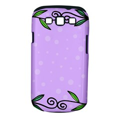 Hand Drawn Doodle Flower Border Samsung Galaxy S Iii Classic Hardshell Case (pc+silicone)