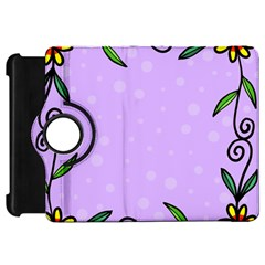Hand Drawn Doodle Flower Border Kindle Fire Hd 7
