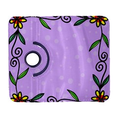 Hand Drawn Doodle Flower Border Galaxy S3 (Flip/Folio)
